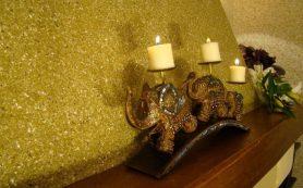 Декоративная отделка стен флоком