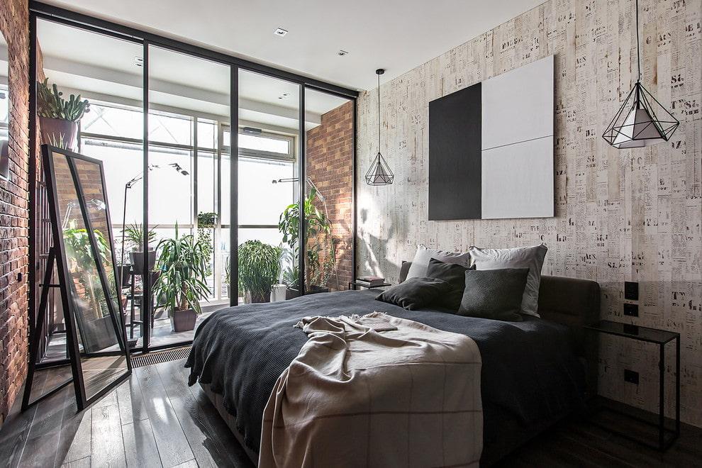 Спальня в стиле лофт: какая мебель будет уместна?