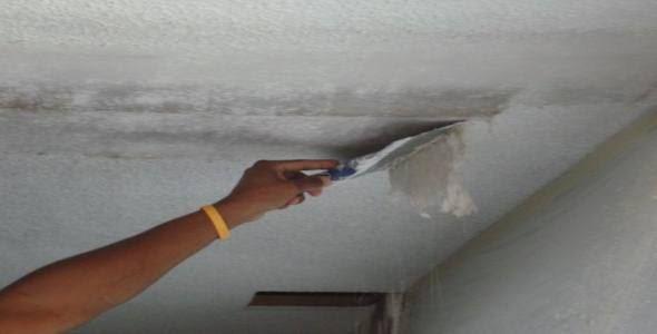 Как сделать ремонт после протечки потолка