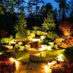 Ландшафтное освещение и подсветка водоёмов своими руками