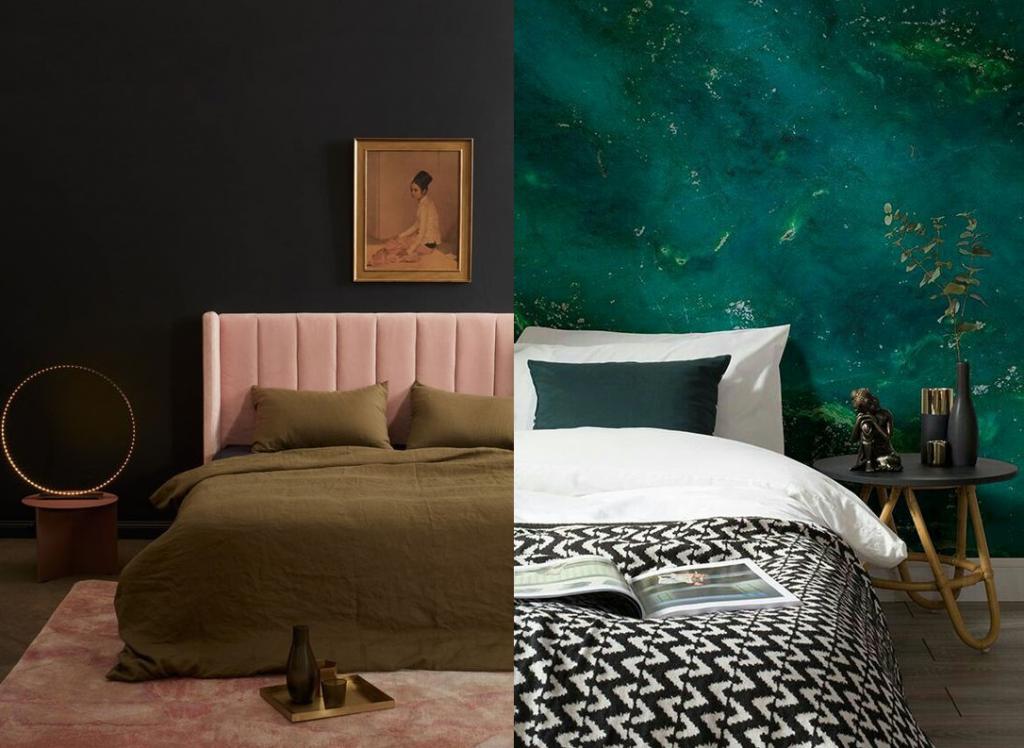 Стены в спальне: 5 удачных отделочных решений