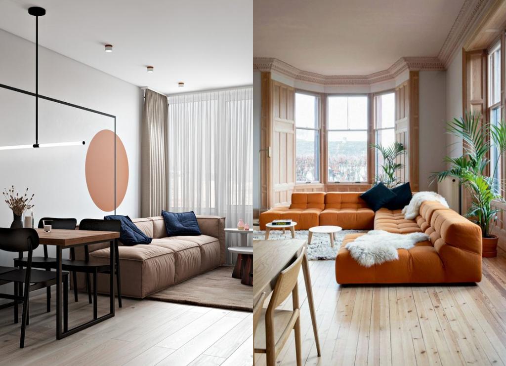 Дизайн гостиной 2021: цвета, формы, сочетания