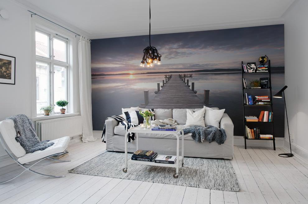 Акцентные стены в интерьере гостиной и спальной