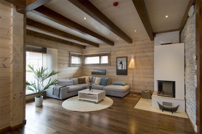 Деревянные потолки в интерьере дома или квартиры