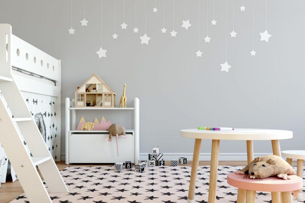Современная отделка стен в детской комнате
