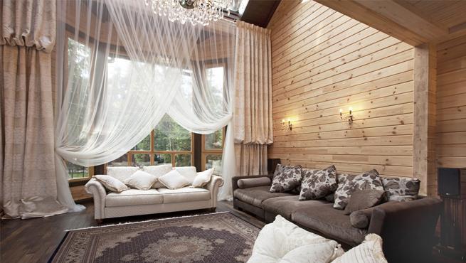 Текстильное обрамление дома